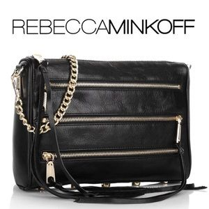 Rebecca Minkoff | Black 5 Zip Crossbody Bag